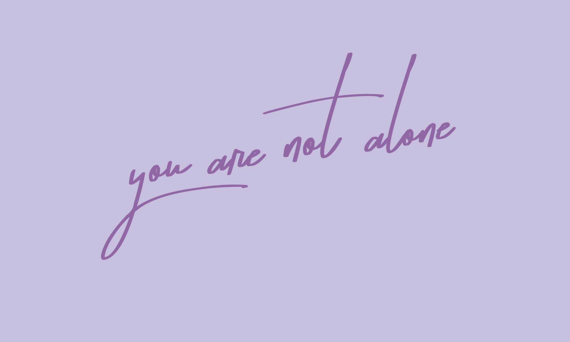 you are not alone design by Mint and Merit