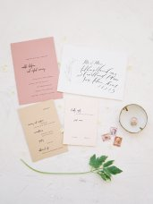 Spring Wedding Invitation by Mint and Merit