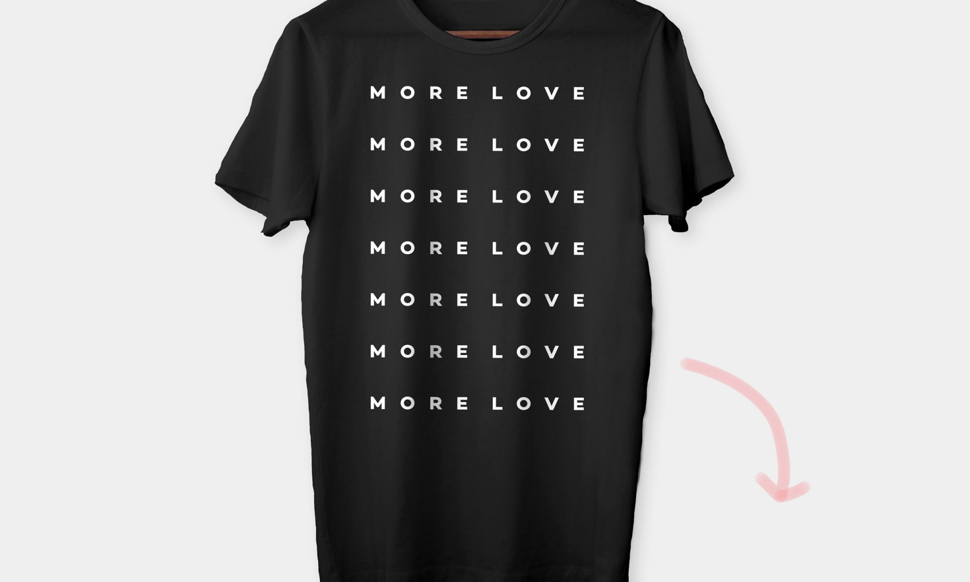 #MORELOVETEE by Mint and Merit for Kurandza.